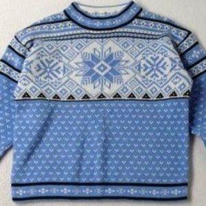 Hanna Andersson Blue Fair Isle Sweater 100 / 4